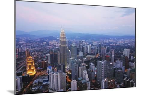 Kuala Lumpur Skyline Seen from Kl Tower, Kuala Lumpur, Malaysia, Southeast Asia, Asia-Jochen Schlenker-Mounted Photographic Print