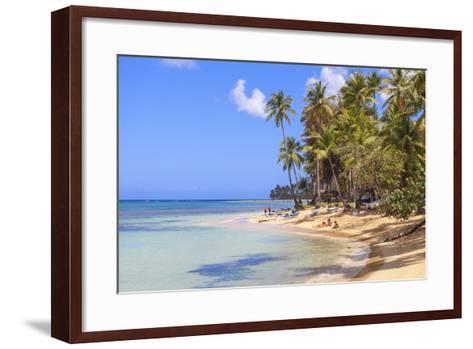 Beach at Las Terrenas, Samana Peninsula, Dominican Republic, West Indies, Caribbean-Jane Sweeney-Framed Art Print