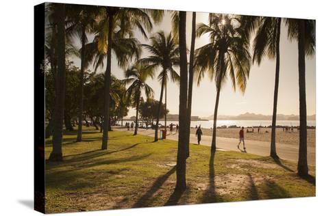 People, Flamengo Beach, Rio De Janeiro, Brazil, South America-Ian Trower-Stretched Canvas Print