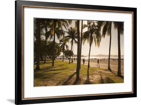 People, Flamengo Beach, Rio De Janeiro, Brazil, South America-Ian Trower-Framed Art Print