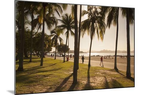 People, Flamengo Beach, Rio De Janeiro, Brazil, South America-Ian Trower-Mounted Photographic Print