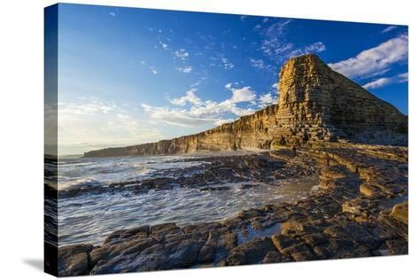Nash Point, Vale of Glamorgan, Wales, United Kingdom, Europe-Billy Stock-Stretched Canvas Print