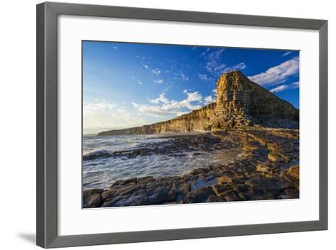 Nash Point, Vale of Glamorgan, Wales, United Kingdom, Europe-Billy Stock-Framed Art Print