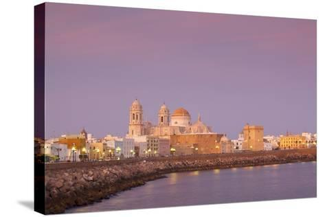 Church of Santa Cruz and Cathedral, Cadiz, Cadiz Province, Andalucia, Spain, Europe-Neil Farrin-Stretched Canvas Print
