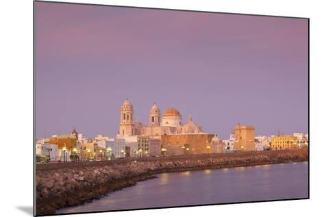Church of Santa Cruz and Cathedral, Cadiz, Cadiz Province, Andalucia, Spain, Europe-Neil Farrin-Mounted Photographic Print