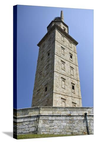 Hercules Tower, Oldest Roman Lighthouse in Use Todaya Coruna, Galicia, Spain, Europe-Matt Frost-Stretched Canvas Print