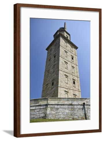 Hercules Tower, Oldest Roman Lighthouse in Use Todaya Coruna, Galicia, Spain, Europe-Matt Frost-Framed Art Print