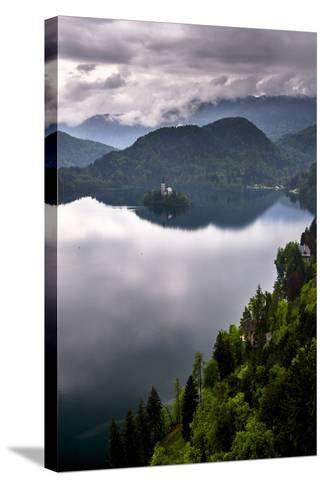 View of Lake Bled from Lake Bled Castle-Matthew Williams-Ellis-Stretched Canvas Print