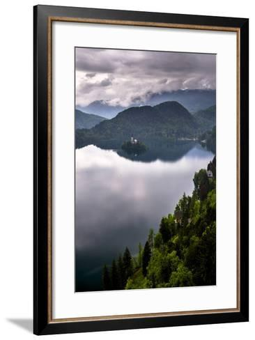 View of Lake Bled from Lake Bled Castle-Matthew Williams-Ellis-Framed Art Print