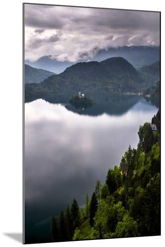 View of Lake Bled from Lake Bled Castle-Matthew Williams-Ellis-Mounted Photographic Print