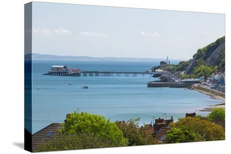 Mumbles Lighthouse, Mumbles Pier, Mumbles, Gower, Swansea, Wales, United Kingdom, Europe-Billy Stock-Stretched Canvas Print