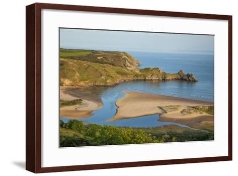 Three Cliffs Bay, Gower, Wales, United Kingdom, Europe-Billy Stock-Framed Art Print
