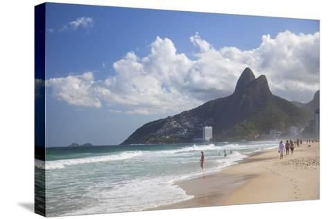 Ipanema Beach, Rio De Janeiro, Brazil, South America-Ian Trower-Stretched Canvas Print