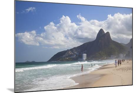 Ipanema Beach, Rio De Janeiro, Brazil, South America-Ian Trower-Mounted Photographic Print