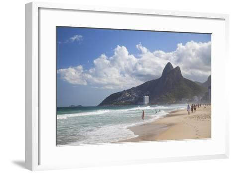 Ipanema Beach, Rio De Janeiro, Brazil, South America-Ian Trower-Framed Art Print