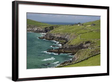 Sheep Fences and Rock Walls Along the Dingle Peninsula-Michael Nolan-Framed Art Print