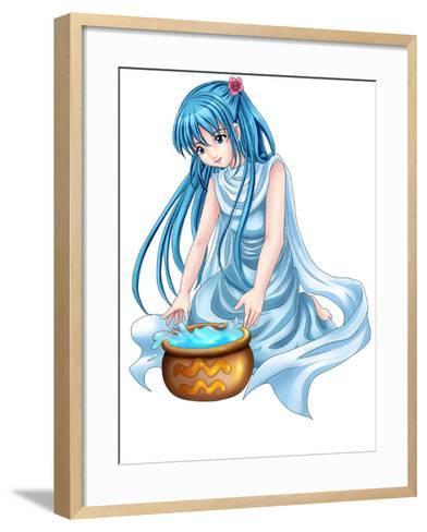 Aquarius-Rudall30-Framed Art Print