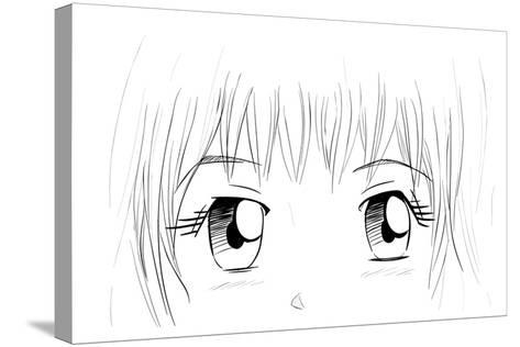 Manga Eyes-yienkeat-Stretched Canvas Print