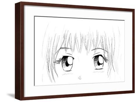 Manga Eyes-yienkeat-Framed Art Print