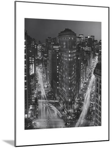 Flatiron Building, New York City at Night 3-Henri Silberman-Mounted Photographic Print