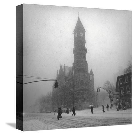 Greenwich Village, New York City-Henri Silberman-Stretched Canvas Print