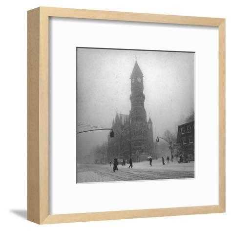 Greenwich Village, New York City-Henri Silberman-Framed Art Print