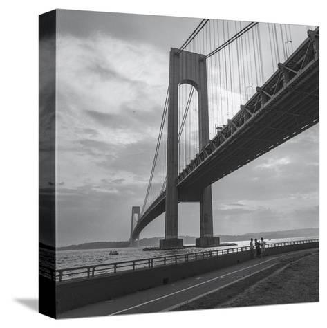 Verrazano Bridge, New York City Afernoon-Henri Silberman-Stretched Canvas Print