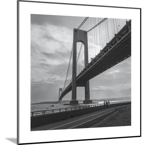 Verrazano Bridge, New York City Afernoon-Henri Silberman-Mounted Photographic Print