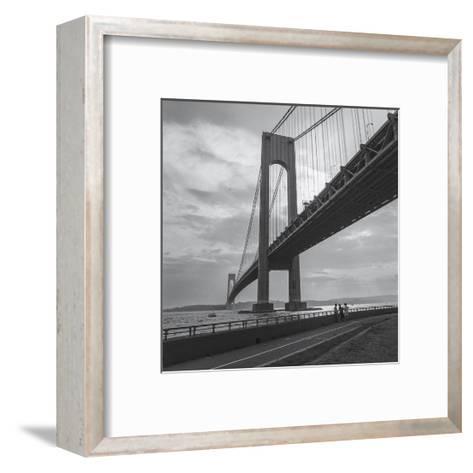 Verrazano Bridge, New York City Afernoon-Henri Silberman-Framed Art Print