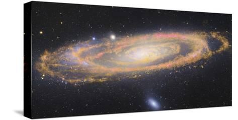 Infrared Image Of The Andromeda Galaxy--Stretched Canvas Print