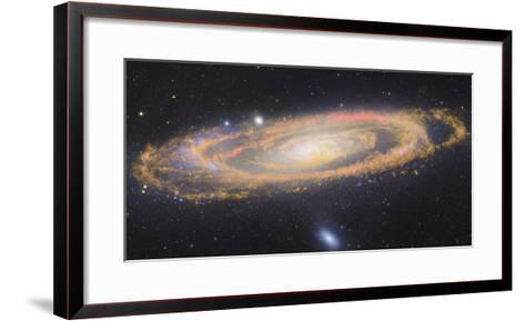 Infrared Image Of The Andromeda Galaxy--Framed Art Print