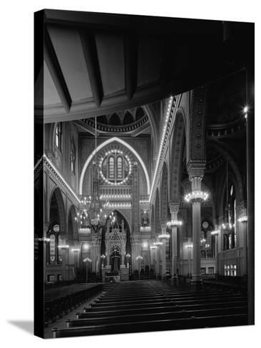 Interior of the Plum Street Temple-GE Kidder Smith-Stretched Canvas Print