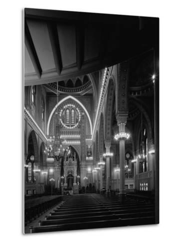 Interior of the Plum Street Temple-GE Kidder Smith-Metal Print