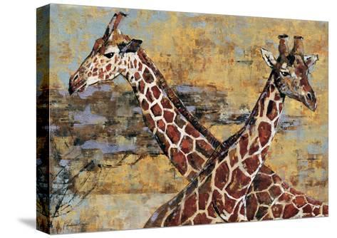 Safari Giraffes-Madelaine Morris-Stretched Canvas Print