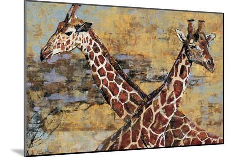 Safari Giraffes-Madelaine Morris-Mounted Premium Giclee Print