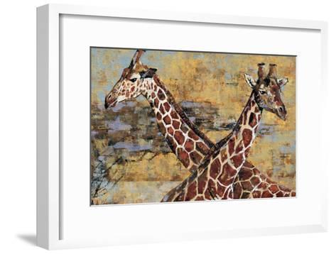 Safari Giraffes-Madelaine Morris-Framed Art Print