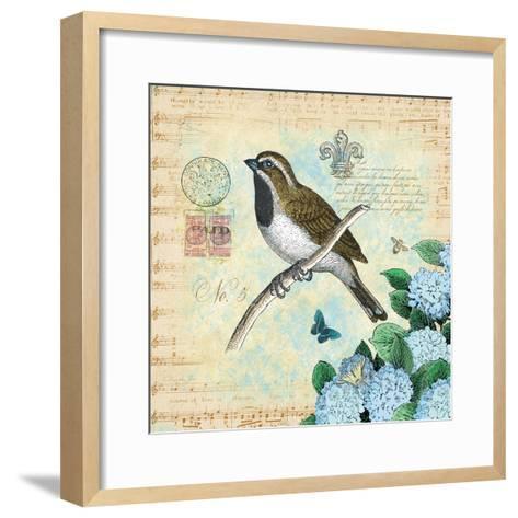 Hydrangea Songbird No. 5-Christopher James-Framed Art Print