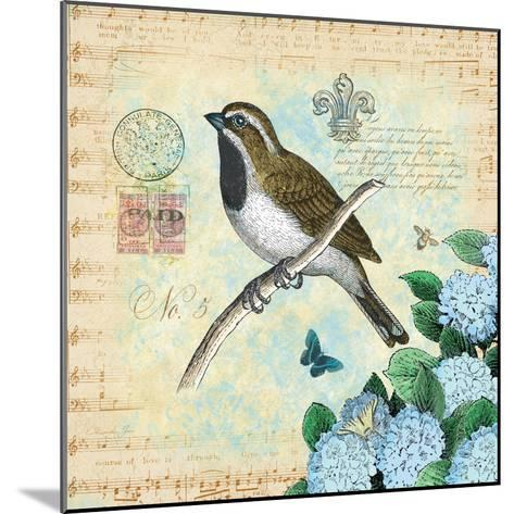 Hydrangea Songbird No. 5-Christopher James-Mounted Premium Giclee Print