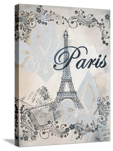My Paris 1-Tina Epps-Stretched Canvas Print