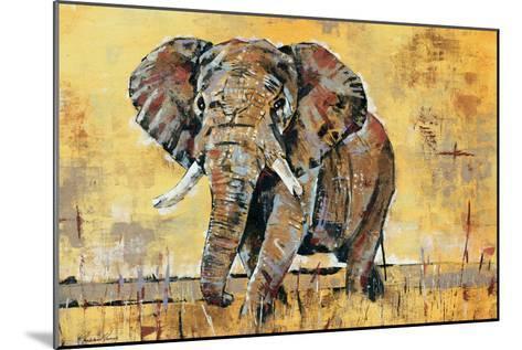 Safari Elephant-Madelaine Morris-Mounted Premium Giclee Print