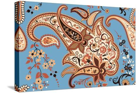 Paisley Seamless Pattern-Milovelen-Stretched Canvas Print