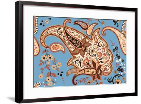 Paisley Seamless Pattern-Milovelen-Framed Art Print