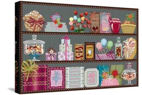 Store of Sweets and Chocolate-Milovelen-Stretched Canvas Print