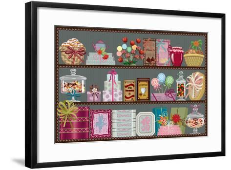 Store of Sweets and Chocolate-Milovelen-Framed Art Print