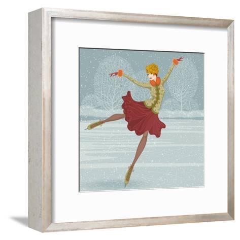 Beautiful Ice Skater-Milovelen-Framed Art Print