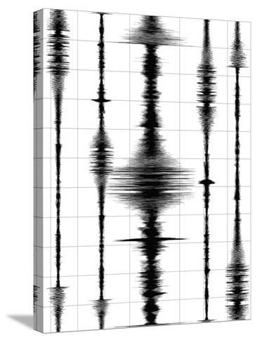 Earthquake Waves Graph-oriontrail2-Stretched Canvas Print