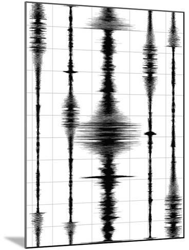 Earthquake Waves Graph-oriontrail2-Mounted Art Print