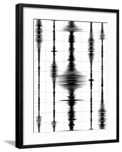 Earthquake Waves Graph-oriontrail2-Framed Art Print