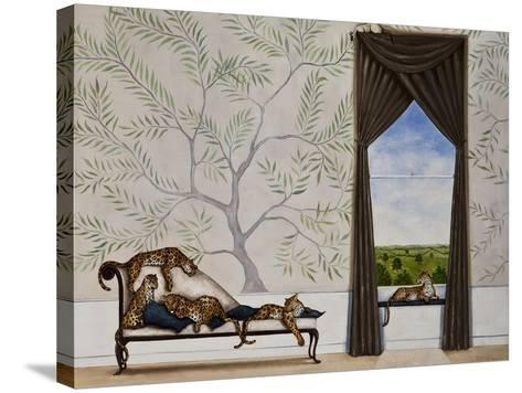 A Leap of Leopards-Rebecca Campbell-Stretched Canvas Print