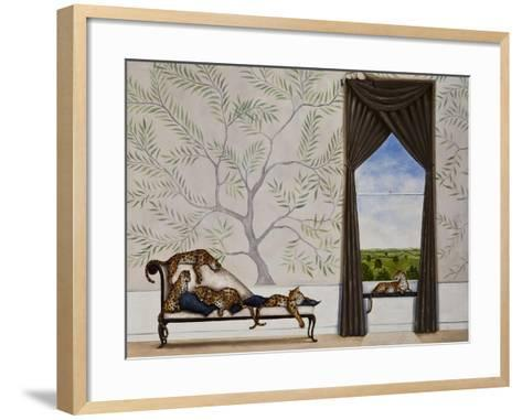 A Leap of Leopards-Rebecca Campbell-Framed Art Print
